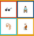flat icon disabled set of disabled person vector image vector image
