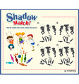 Game template for shadow matching with bowling vector image vector image