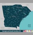 georgia and south carolina united states vector image