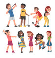 good and bad child behavior set naughty and vector image vector image