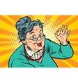Grandma okay gesture the elderly vector image vector image