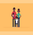 happy african family - modern flat design style vector image