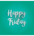 Happy Friday Lettering Design vector image