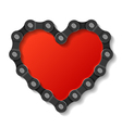 heart made of chain vector image vector image