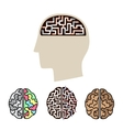 icons human brain activity vector image