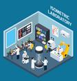 laboratory interior isometric design vector image vector image