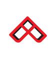 letter a arrow 3d shadow logo vector image vector image