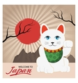 Lucky cat of Japan design vector image vector image