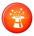 Magic hat with stars icon flat style vector image vector image