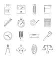 Measure precision icons set outline style vector image vector image