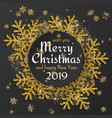 merry christmas background with shiny golden vector image vector image