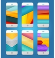 Mobile Phones Arrows Backgrounds vector image vector image