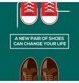 new pair shoes can change your life vector image