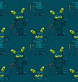 old robot seamless pattern vector image