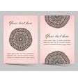 Ornaments collection with mandala circular pattern vector image vector image