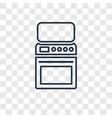 oven concept linear icon isolated on transparent vector image vector image
