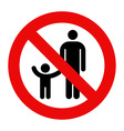 Parent and child symbol vector image