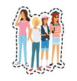 pretty young women icon image vector image vector image