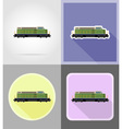 railway transport flat icons 15 vector image vector image