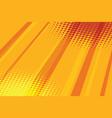 red yellow halftone raster effect pop art vector image vector image
