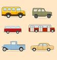 Retro transport icons set vector image vector image