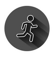 running people sign icon in flat style run vector image vector image
