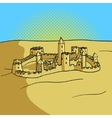 Sand castle pop art style vector image vector image