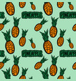 seamless pattern with hand drawn pineapples vector image