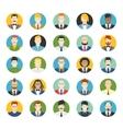 set avatars flat icons vector image