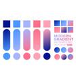 set gradient 06 vector image vector image