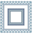 Set of Ethnic ornament pattern frames in blue vector image vector image