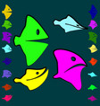 set of good and evil fish for children vector image