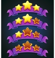 Set stars and ribbons vector image