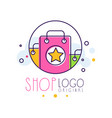 shop original logo template bright sale badge vector image vector image