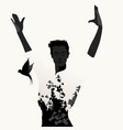 silhouette of spanish flamenco dancer man and vector image vector image