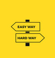 simple and complex way road signs vector image vector image