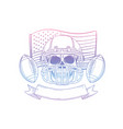 skull american football player vector image vector image