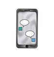 smartphone bubble chat dialog device technology vector image vector image