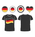 t-shirt with the flag of Germany vector image
