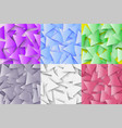the colorful set of abstract polygonal geometric vector image vector image