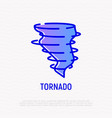 tornado thin line icon modern vector image