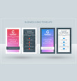 vertical double-sided creative business card vector image vector image
