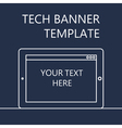 Web Banner with Tablet vector image vector image