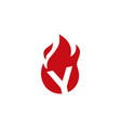 y letter fire flame logo icon vector image vector image