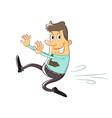 running man cartoon vector image