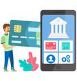 a man buy on online commerce e-commerce online vector image