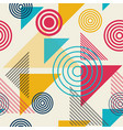 abstract geometric pattern memphis seamless vector image vector image