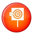 Arrow in the center of target icon flat style vector image vector image
