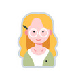 avatar writer flat vector image