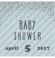 Baby shower invitation with confetti for boy style vector image vector image